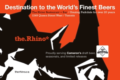 Postcard: The Rhino / Cameron's Brewing Co. – / July 2015