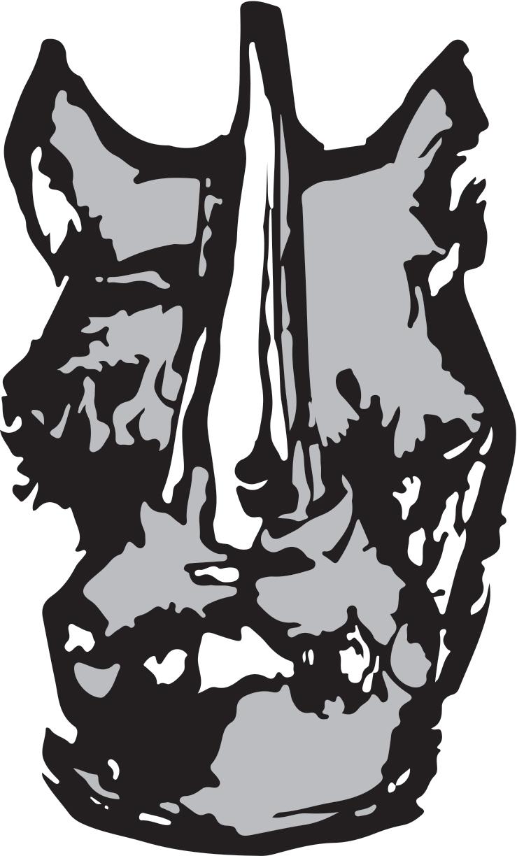 rhino-head-B+W
